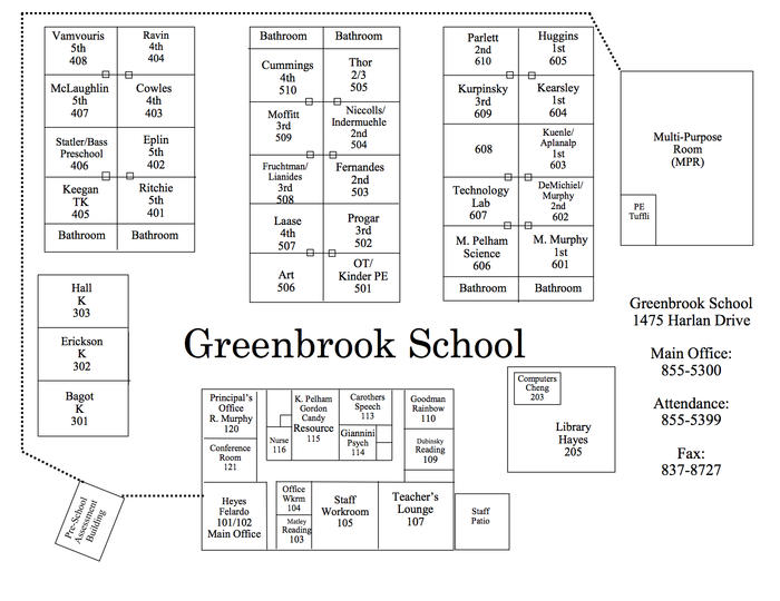 2017-18 GB Campus Map